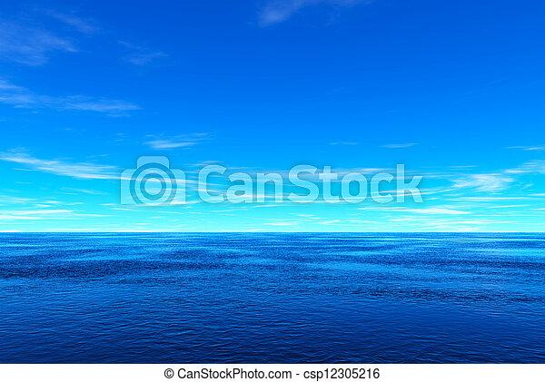 Mar azul y cielo - csp12305216