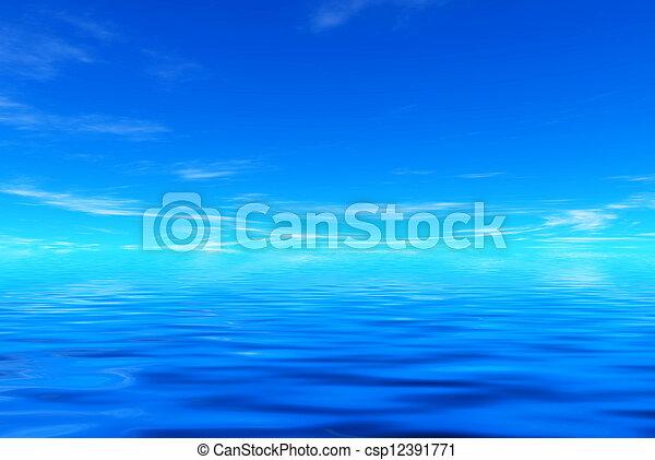 Mar azul y cielo - csp12391771