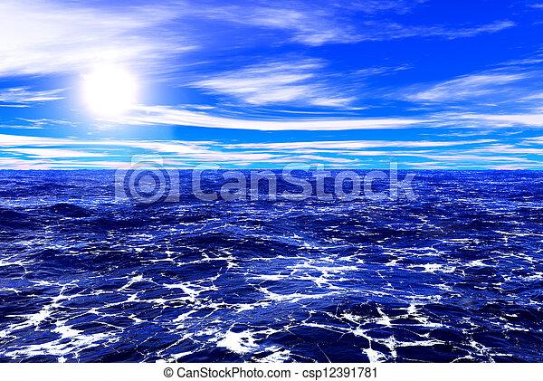 Mar azul y cielo - csp12391781