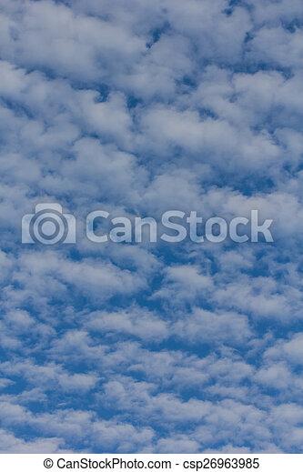 Nubes de belleza con fondo azul - csp26963985
