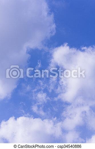 Nubes con textura del cielo azul y fondo - csp34540886
