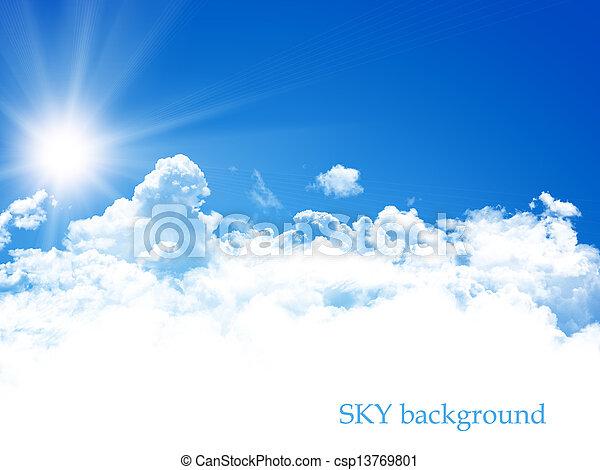cielo azul, plano de fondo - csp13769801
