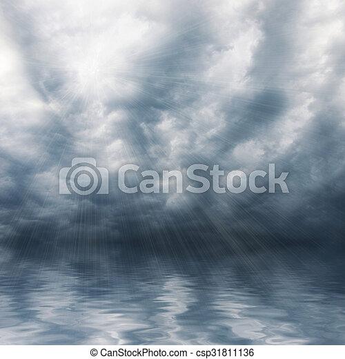 cielo azul, plano de fondo - csp31811136