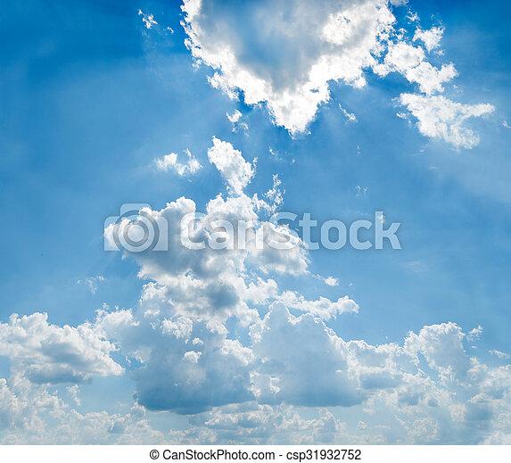 cielo azul, plano de fondo - csp31932752