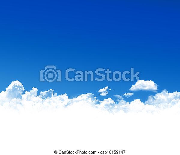 cielo azul, plano de fondo - csp10159147