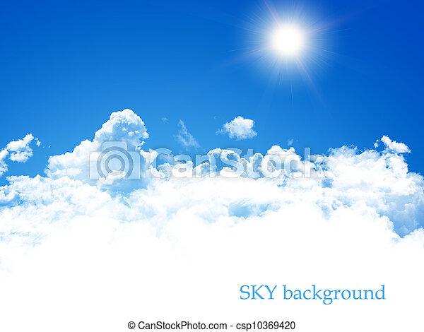 cielo azul, plano de fondo - csp10369420