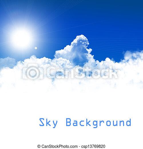 cielo azul, plano de fondo - csp13769820