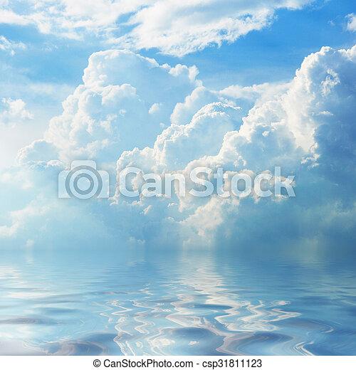 cielo azul, plano de fondo - csp31811123