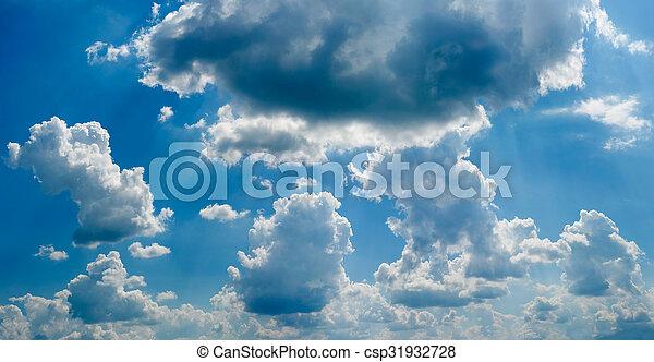 cielo azul, plano de fondo - csp31932728