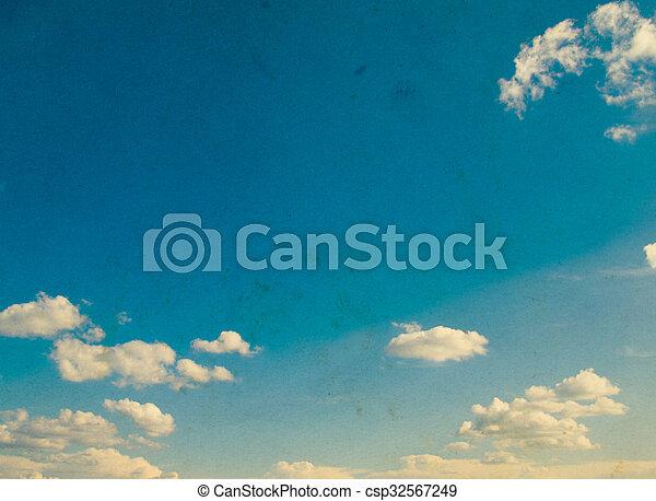 cielo azul, plano de fondo - csp32567249