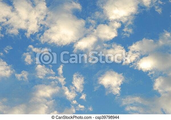 Trasfondo del cielo azul - csp39798944
