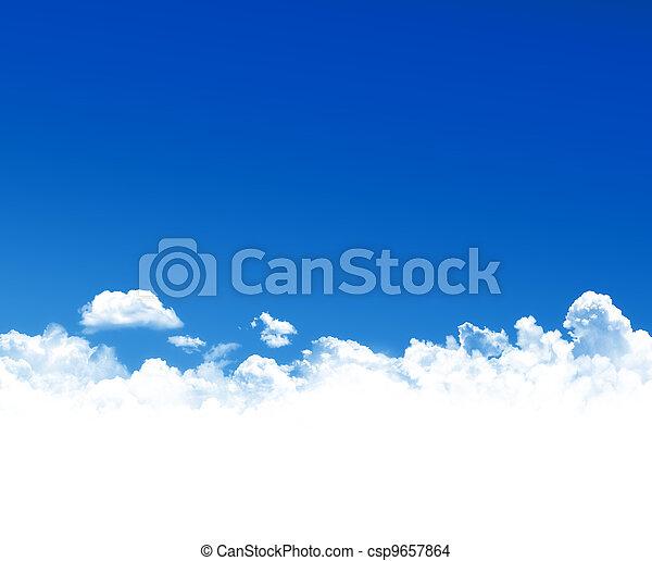 cielo azul, plano de fondo - csp9657864