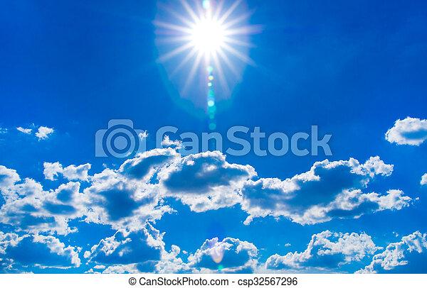 cielo azul, plano de fondo - csp32567296