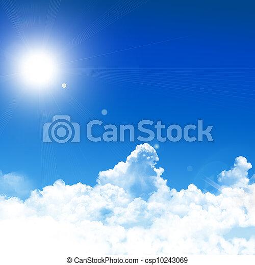 cielo azul, plano de fondo - csp10243069