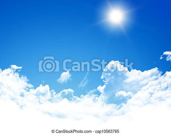 cielo azul, plano de fondo - csp10563765