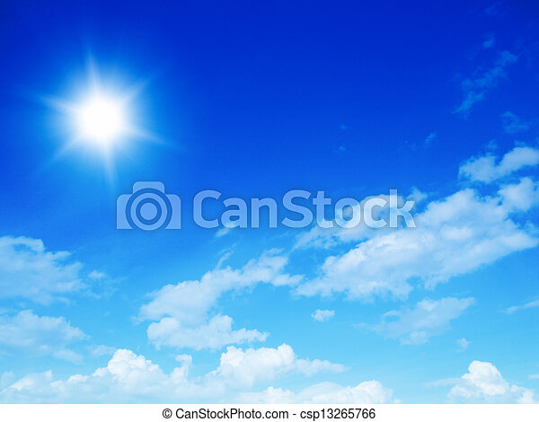 cielo azul, plano de fondo - csp13265766