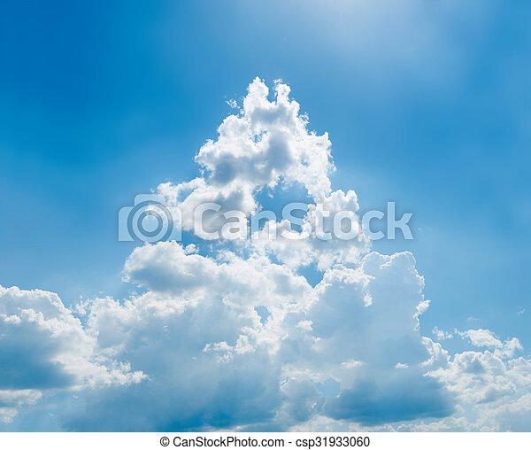 cielo azul, plano de fondo - csp31933060