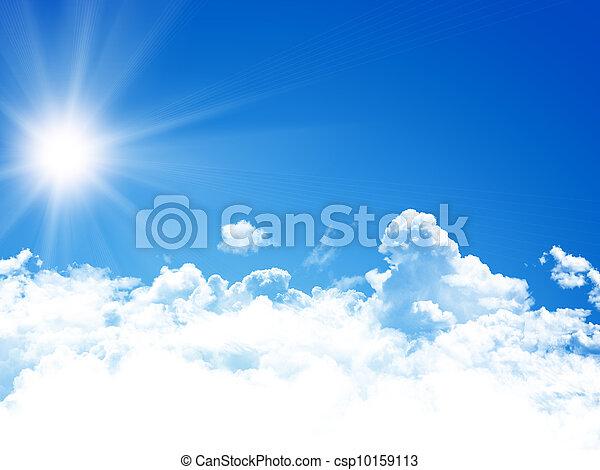 cielo azul, plano de fondo - csp10159113