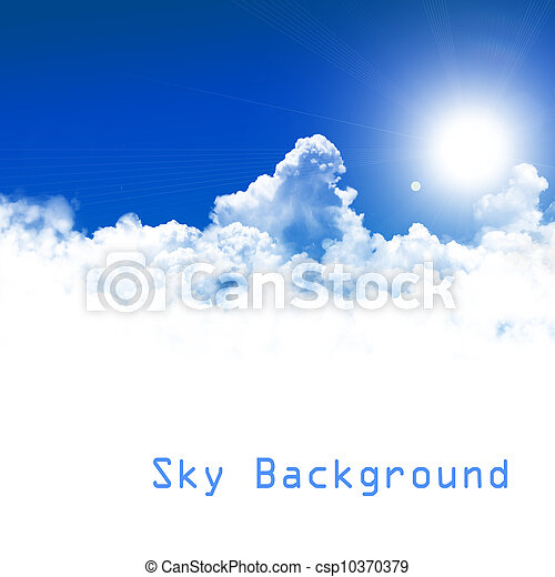 cielo azul, plano de fondo - csp10370379