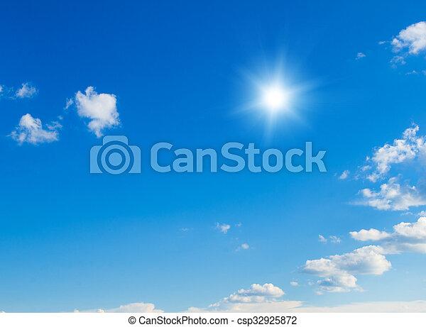 cielo azul, plano de fondo - csp32925872