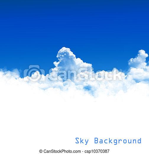 cielo azul, plano de fondo - csp10370387