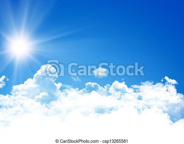 cielo azul, plano de fondo - csp13265581