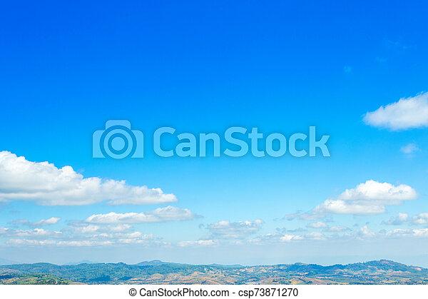 cielo blanco azul, textura, clouds., plano de fondo - csp73871270