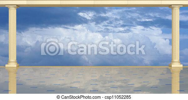 Columnas en un fondo del cielo - csp11052285