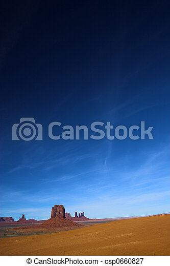 cielo, deserto, rosso, hight - csp0660827