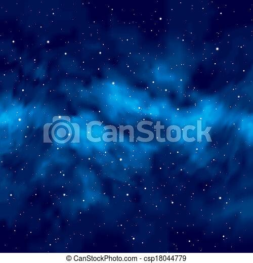 cielo, estrellas, noche - csp18044779