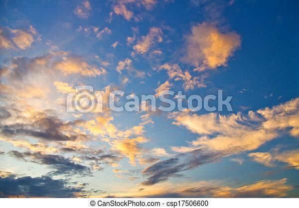 cielo, fondo - csp17506600