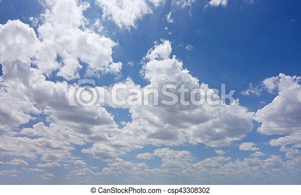 cielo, nublado - csp43308302