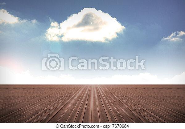 cielo, nublado, plano de fondo - csp17670684