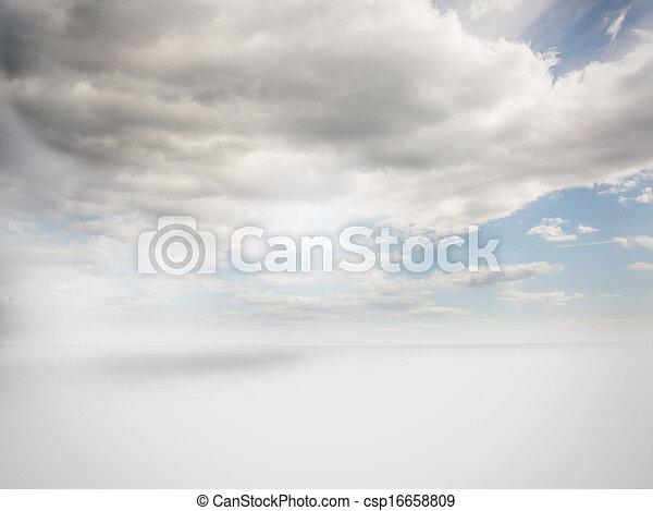 cielo, nuvoloso, fondo - csp16658809