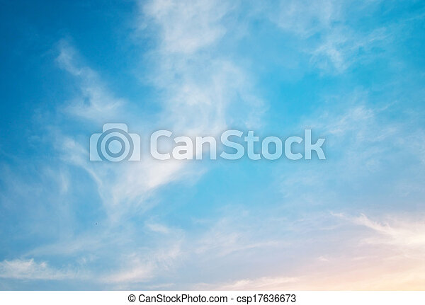 cielo, plano de fondo - csp17636673
