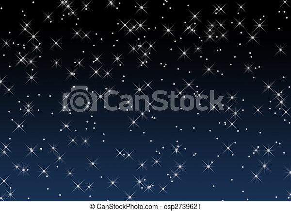 Cielo Stellato Sfondo Blu Pendenza Illustrazione Contro Stelle