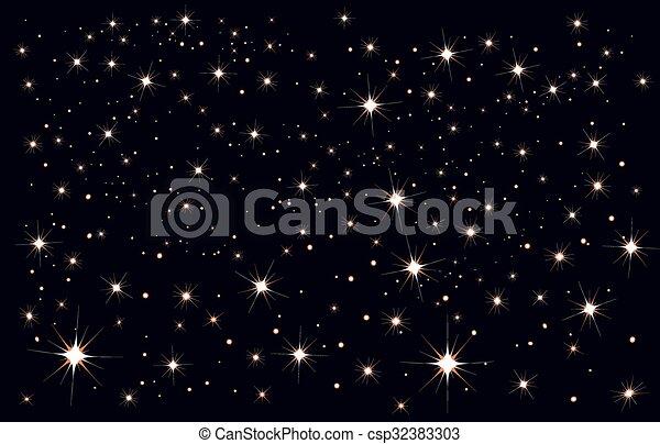 Cielo Stellato Formato Stellato Sky Illustrazione Vettore