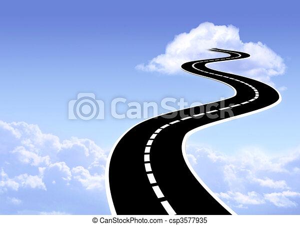 cielo, strada - csp3577935