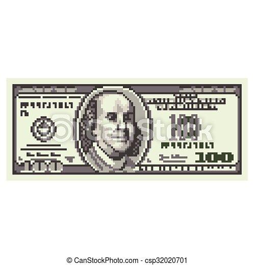 Pixel vector cien dólares - csp32020701