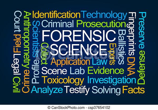 Nube de palabra científica forense - csp37654102