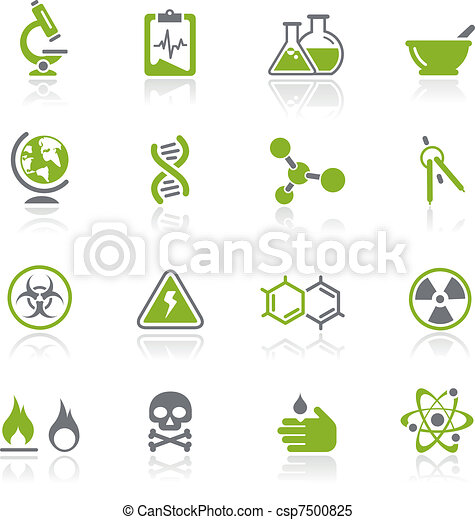 Íconos de ciencia / natura - csp7500825