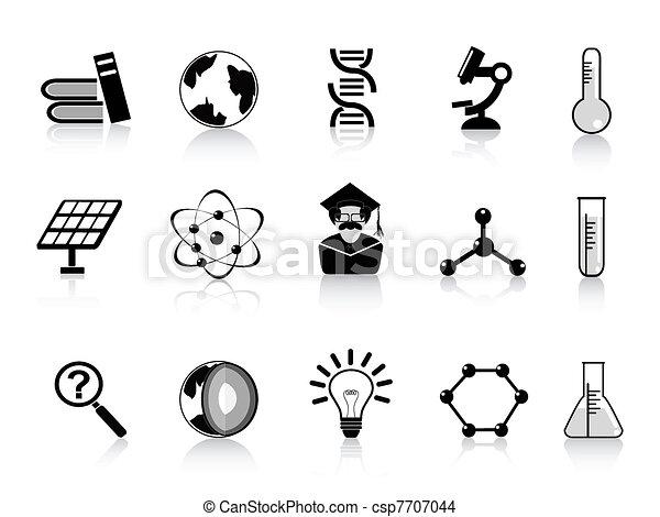 iconos de la ciencia negra - csp7707044