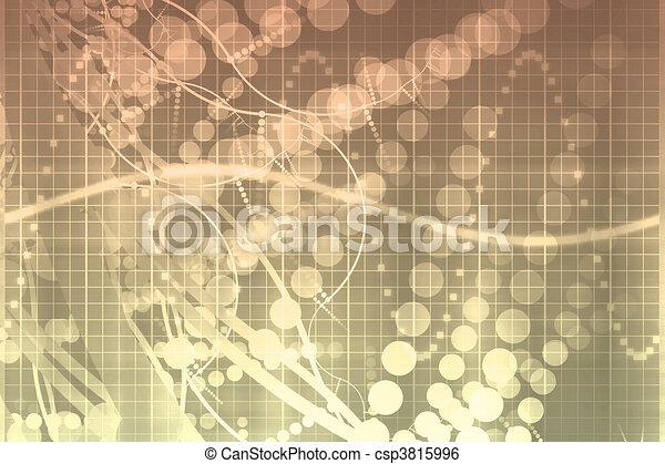 Tecnología futurista médica abstracta - csp3815996