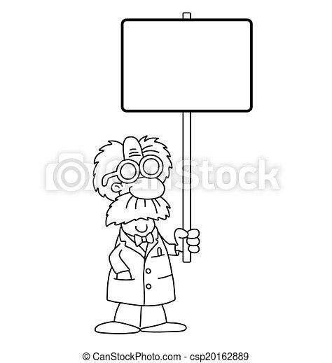 científico, caricatura, señal - csp20162889