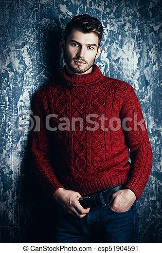 ciepły, zima ubranie - csp51904591