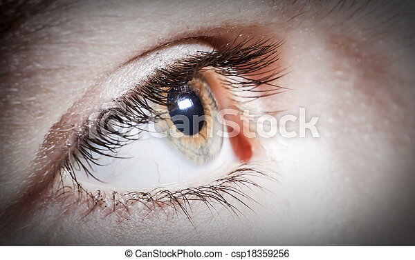 cierre, globo ocular, arriba - csp18359256