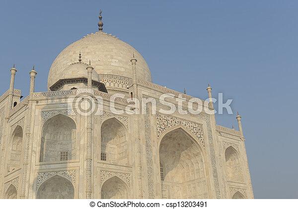 Taj Mahal se acerca - csp13203491
