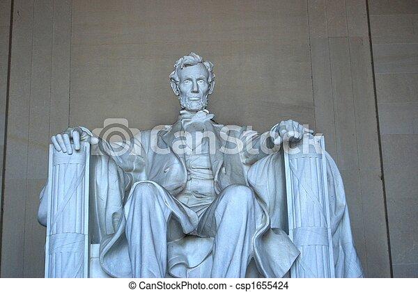 El monumento a Lincoln cierra - csp1655424