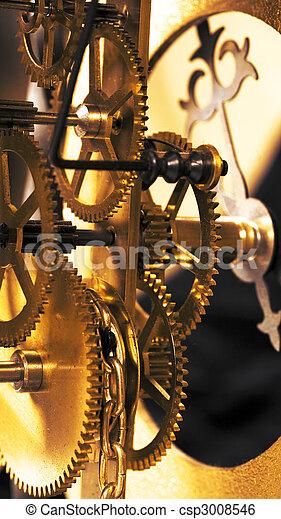 El viejo reloj cierra la vista - csp3008546
