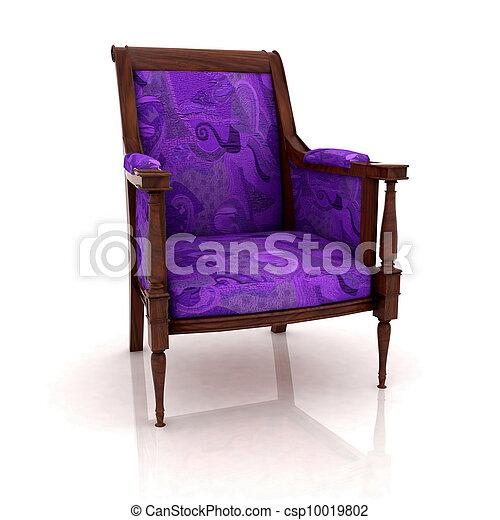 Una vista cerrada de la vieja silla de codos - csp10019802